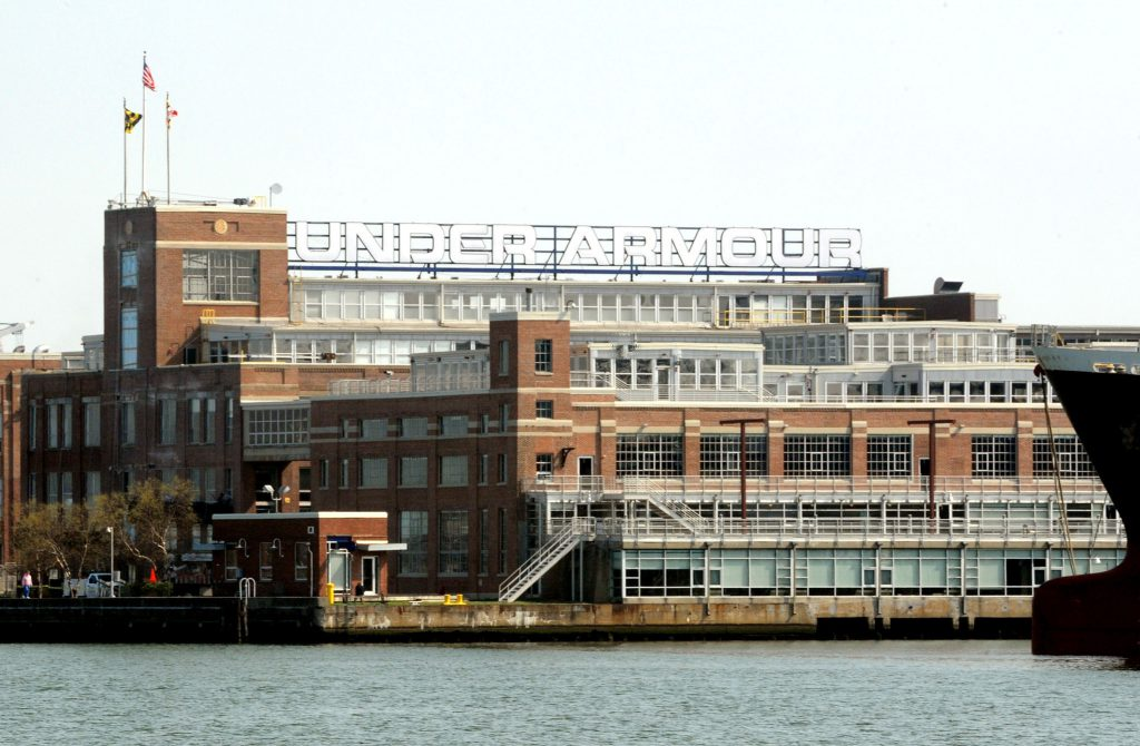 Students met with Under Armour at the company's global headquarters in Baltimore.