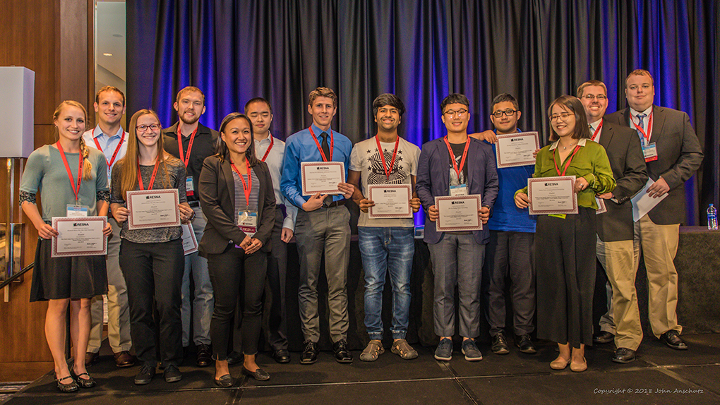 "The awards ceremony at the RESNA Student Design Competition. The Jefferson team was awarded the ""Most Likely to Become Commercially Available"" award as well as second place overall."