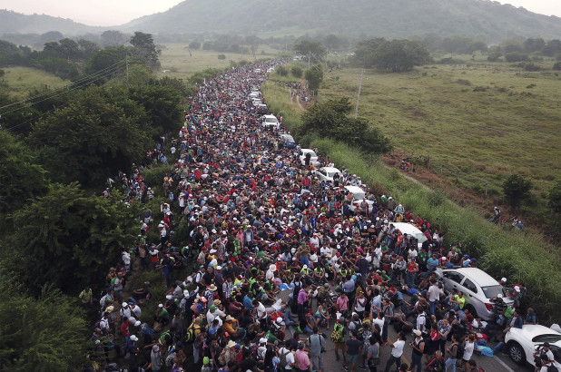 A caravan of over 5,000 migrants fleeing poverty, violence and persecution are making their way up to the United States with the hope of seeking asylum