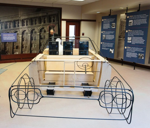 The full-scale model of the1961 Lincoln limousine was constructed by PhilaU architecture students.