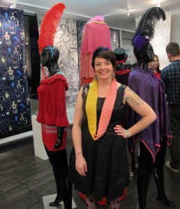 Graduate student Meghan Kelly shows her vaudeville-inspired knit collection.