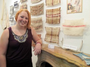 Undergraduate student Alexys Brown's collection focuses on the textural aspects of natural animal and plant fibers.