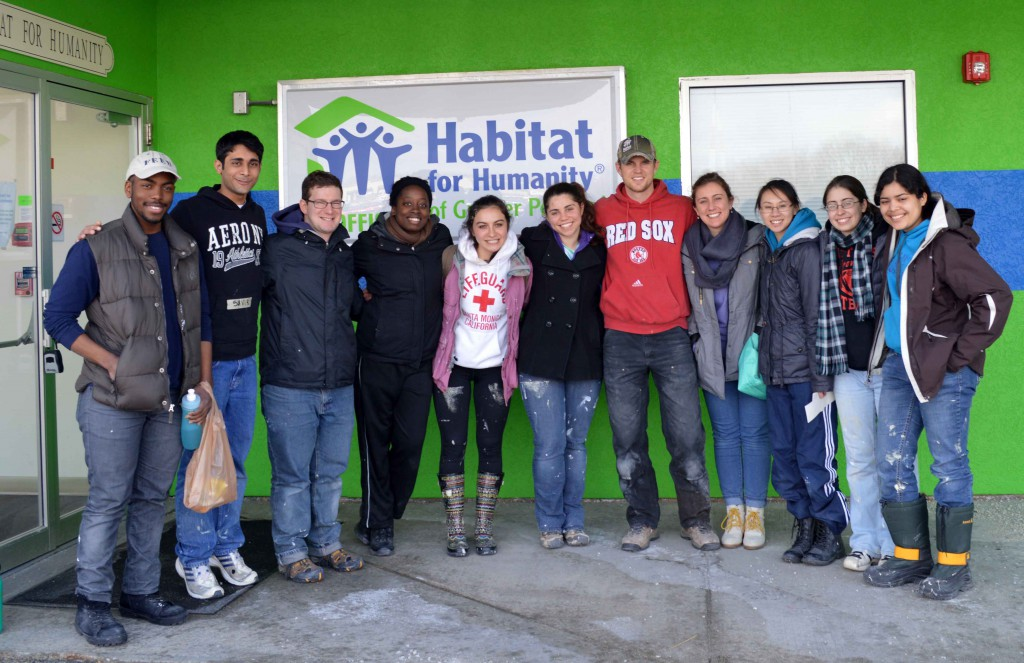 PhilaU's campus chapter of Habitat for Humanity gives back to the community.
