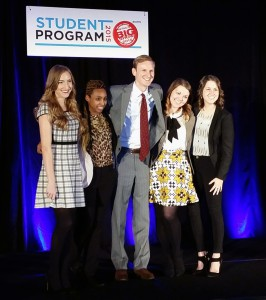 Courtney Hunter (second from the right) is one of five national scholarship finalists.