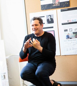 Isaac Mizrahi offers students advice on designing and marketing new products.