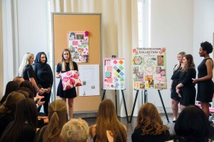 PhilaU students present their product proposals to Xcel Brands Inc. in New York.