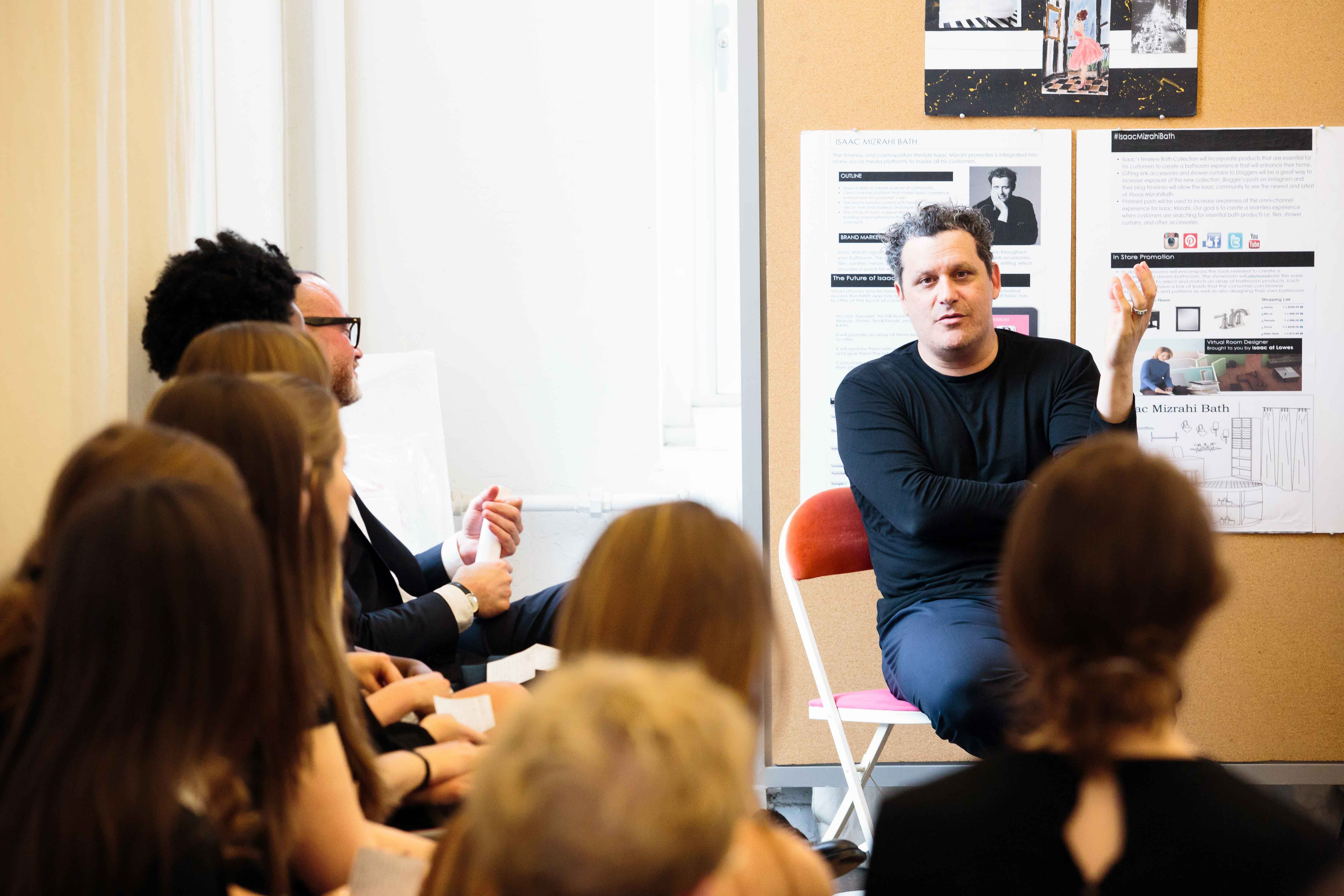 Designer Isaac Mizrahi Talks With Students In The New York Immersion Course