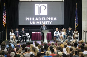 President Spinelli welcomes new students to the PhilaU family.