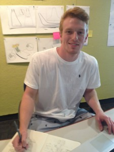 Industrial design student Kyle Garb prepares for $10,000 pitch competition.