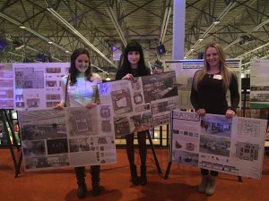 PhilaU IIDA competition winners (left to right): Nicole Criscenzo, Amy Hufford and Angelica Troiano.