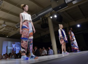 fashion designer Cassie O'Toole won the Mike Ternosky Obey Clothing award  for most creative collection for her collection inspired by blown glass pieces in collaboration with textile design students Katherine Burghart, Sarah Mersky, Huanlin Wang and industrial design student Valerie Gibbons.
