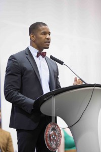 In an inspiring speech, Nicholas Christian '14 described the powerful impact PhilaU has had on his life.