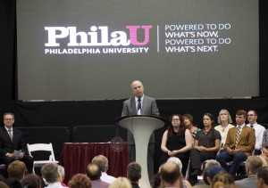 """When you are alumni, you will be the role models for new students,"" President Spinelli said."