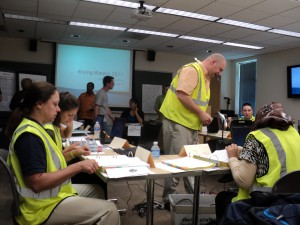 Disaster Medicine and Management students conduct an emergency operations center level  exercise.