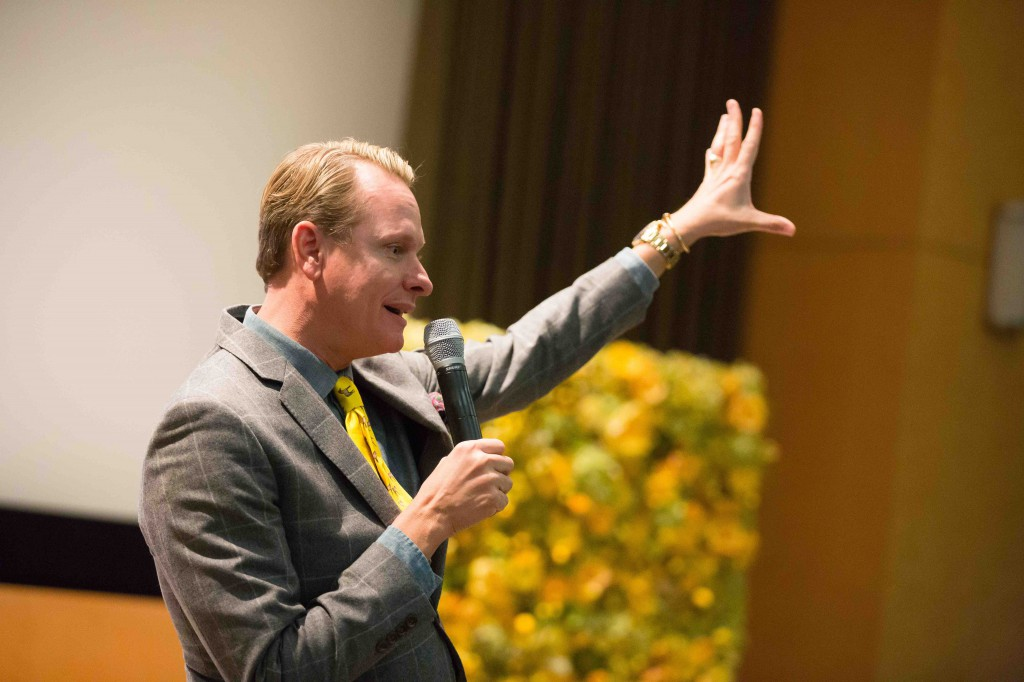 Emmy Award-winning fashion celebrity Carson Kressley H'13 described the many benefits of PhilaU to prospective students.