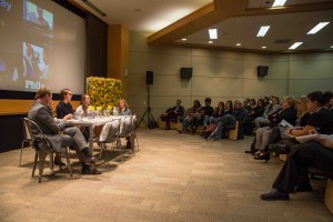 Carson Kressley led a panel discussion with three current PhilaU students, who offered insights into the University's fashion and textile experience.