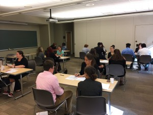 PhilaU faculty presented workshops, and University students served as judges for mock interviews.