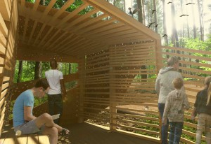 The wildlife viewing blind will raise awareness about the environment.
