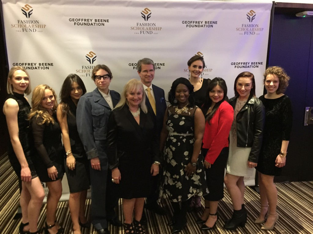 In addition to Vivian Cooper's $35,000 award, seven other PhilaU students received $5,000 scholarships. Pictured here: (l-r) Zoe Wilson, Nicole Braun, Madeleine Bill, Colton Snavely, faculty members Sheila Connelly, Mike Leonard and Nioka Wyatt, Cooper, Keren Espina, Emily DeBernardo and Maria Balestino.
