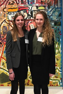 PhilaU architecture students Anna Ayik and Shannon McLain won $6,500 and will intern at HOK this summer.