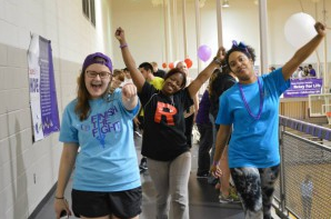 Students will walk laps in the Gallagher Athletic Center at Relay For Life.