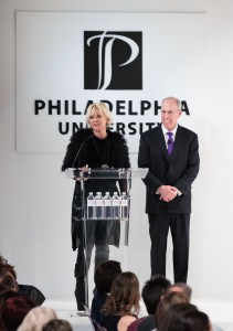 Daniela Kamiliotis, SVP of design for women's collection at Ralph Lauren, received the Philadelphia University Spirit of Design Award.