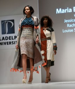 Maria Balestino won best senior collection in collaboration with textile design students Jessica Newman, Rachel Snack and Louise Sandstroem.