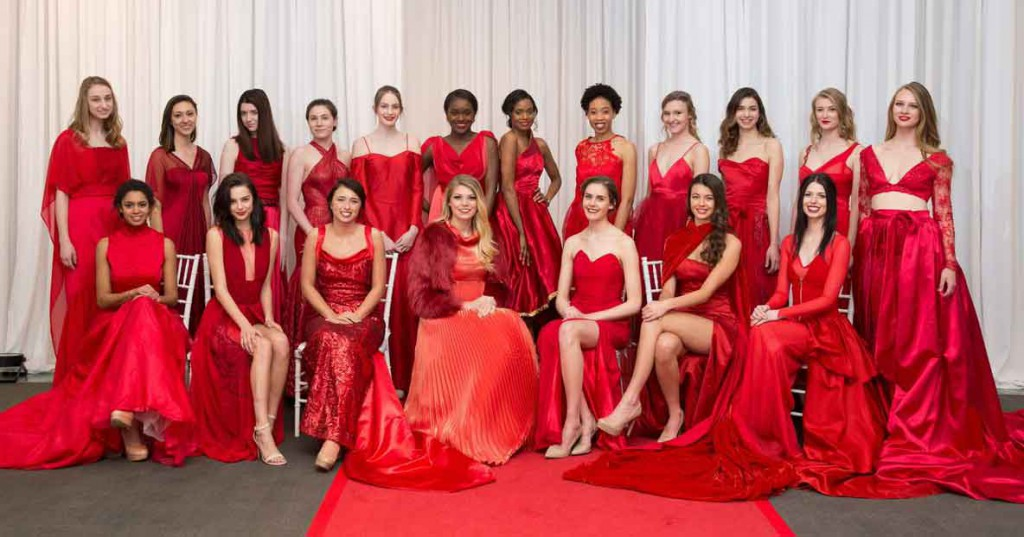 PhilaU fashion students created two dozen stunning red gowns to support women's heart health.