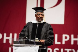 """Innovation means you're playing offense, not defense,"" stressed basketball legend Dr. J in the undergrad keynote address."
