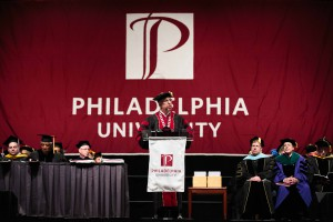 """You are the designers, architects, engineers, scientists, medical professionals and entrepreneurs who will build a better world,"" said PhilaU President Stephen Spinelli Jr."