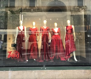 Gowns by Deanna Wedge, Alia Sod, Alana McHugh, Emily Debernardo and Patricia Franklin will be  on display until the end of June.