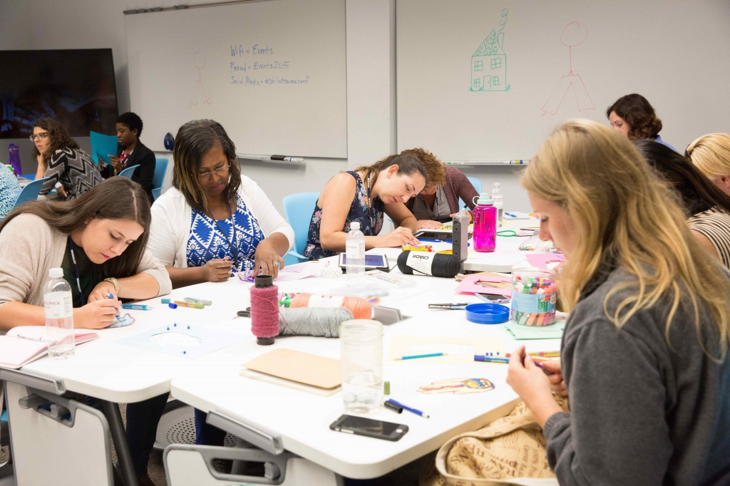 The meeting featured a diverse slate of topics, including using art to enhance relationships with trauma-affected youths.