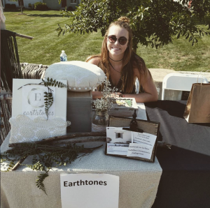At last year's event, fashion merchandising and management student Allison Costa displayed Earthtones, nature-inspired yarn hangings.