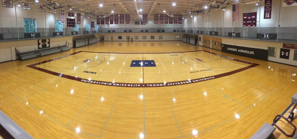 The Herb Magee Court floor was one of the many rebranding projects.