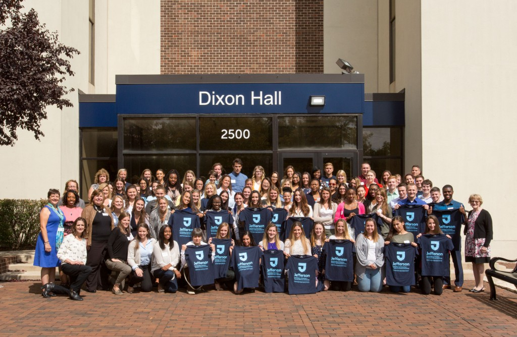The inaugural class of  Jefferson nursing students at Abington-Dixon were welcomed Aug. 28.