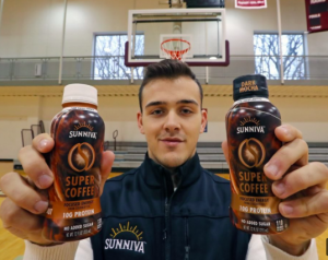 Student entrepreneur Jordan DeCicco will provide samples of his organic Sunniva Super Coffee. (Photo courtesy of David Swanson, Philly.com)