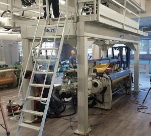 A new state-of-the-art loom was just installed in Hayward Hall.