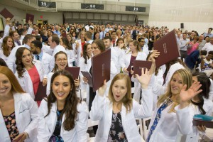 The physician assistant studies Class of 2017 celebrates.