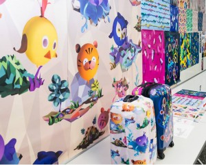 Student Yi-Chun Liu will showcase Travel Lover, customizable printed vinyl-wrap designs and soft, dye-sublimated-printed design product covers for luggage and bags.