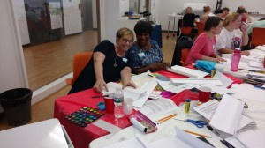 """More than 20 people attended """"Origami Folio Book: Creating Safe Spaces for Expression."""""""