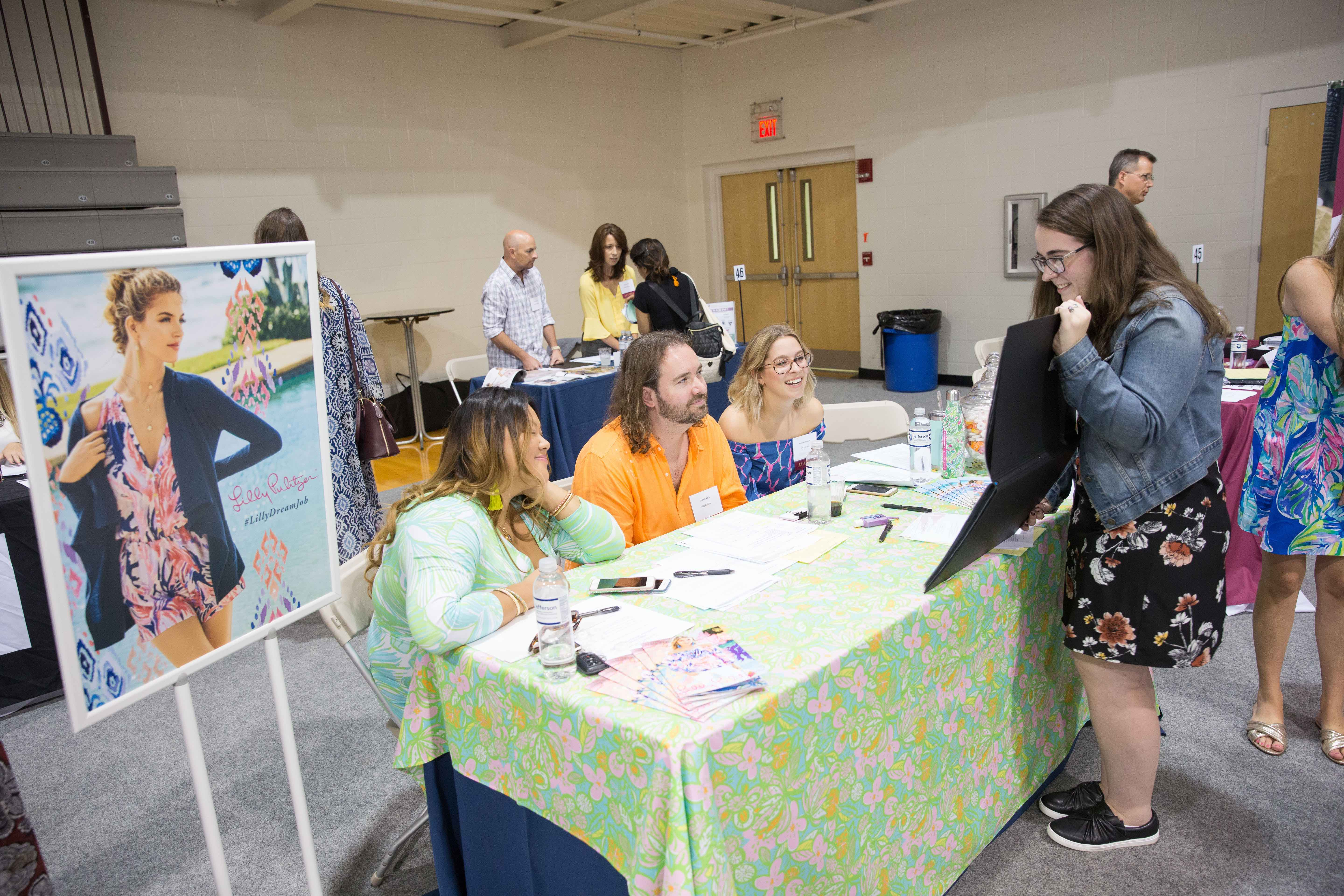 Lilly Pulitzer was among the dozens of top firms that attended the Career Fair.