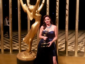 "Kimberly Wannop '99, won an Emmy Award earlier this month as set decorator for the hit HBO comedy series ""Veep."""