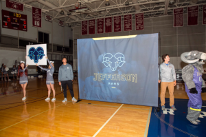 The new athletics logo and colors were dramatically unveiled at Ram Madness on Oct. 12.