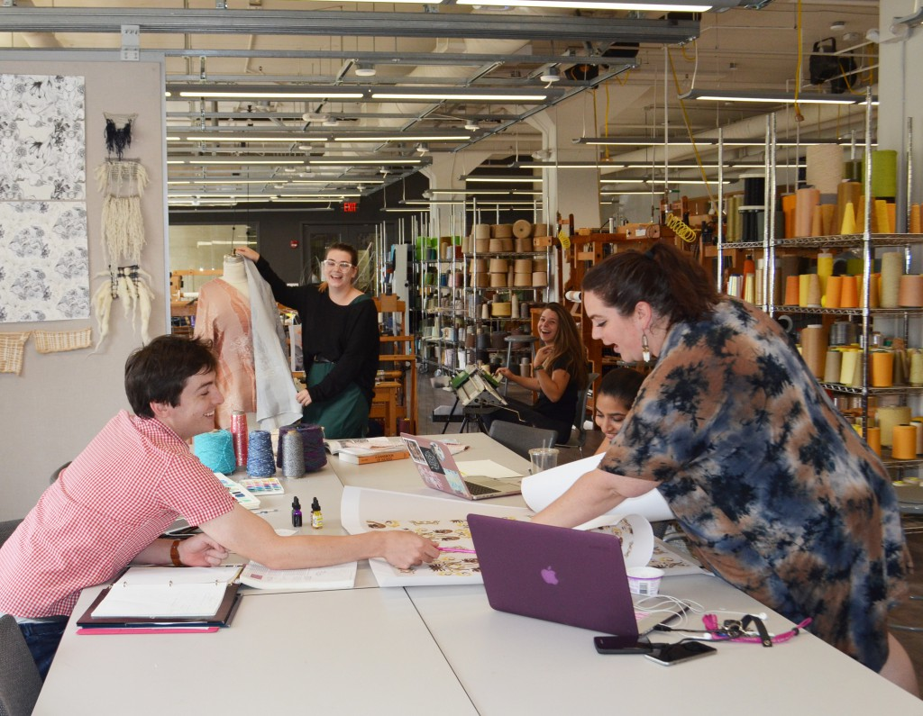The ITA Textile Design Collaborative Studio reflects the collaborative nature of the modern workplace and Jefferson's industry-focused curriculum.