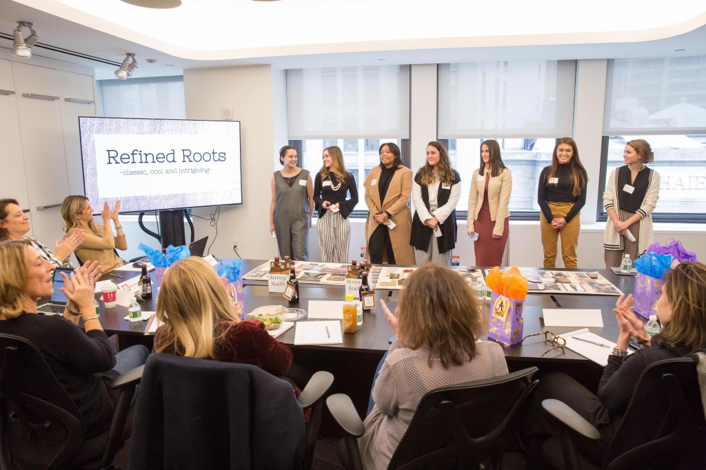 Fashion Design and Fashion Merchandising and Management students presented their final projects to top executives at Li & Fung in New York City.