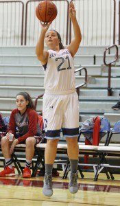 Rachel Day becomes the 32nd women's basketball player at the University to reach 1,000 career points.