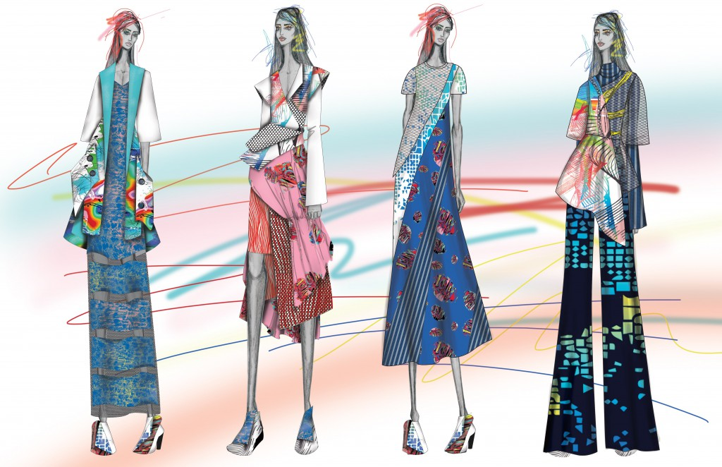 The Jefferson team will be the only student collection presenting at the Epson Digital Couture Project, which kicks off New York Fashion Week.