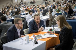 At the recent Design Expo, employers from 100 leading design firms conducted a record 1,003 scheduled interviews with students.