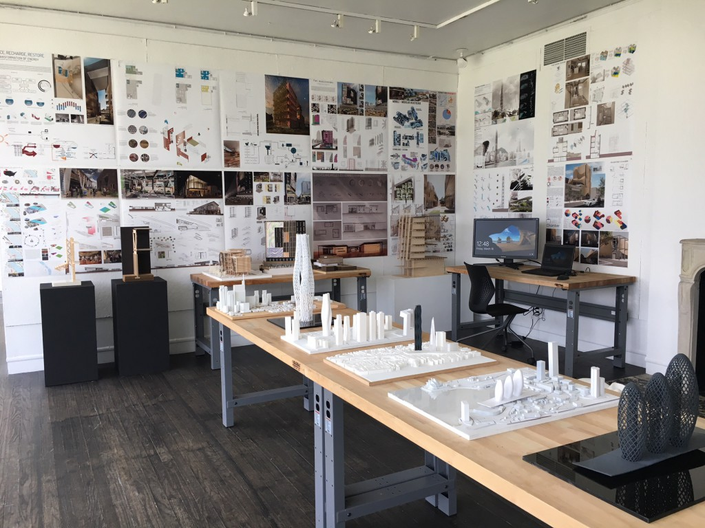 The exhibition demonstrates of the entire curriculum from Jefferson's bachelor of architecture program.