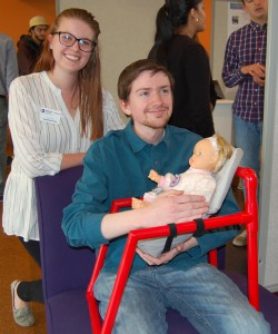Julia Thiel and Zachary Quain created an infant seat for a 94-year-old patient with minimal upper limb strength to cuddle with her great-granddaughter.